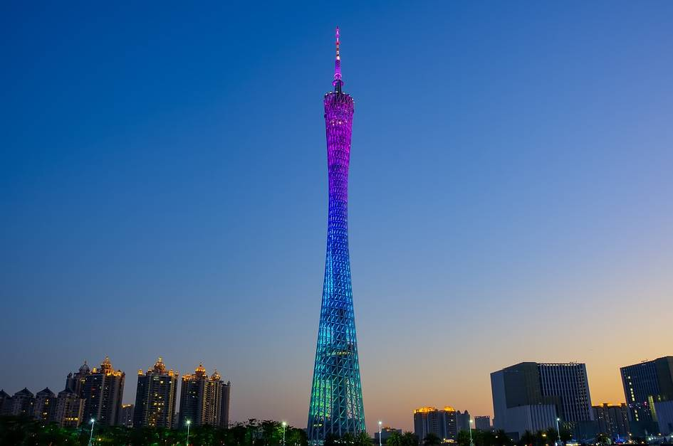 Canton Tower in Guangdong, China