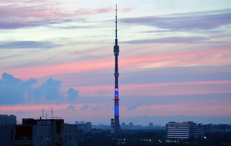 Ostankino Tower in Moscow, Russia