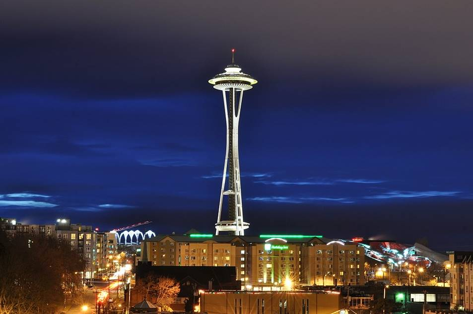 The Space Needle in Seattle, Washington, USA
