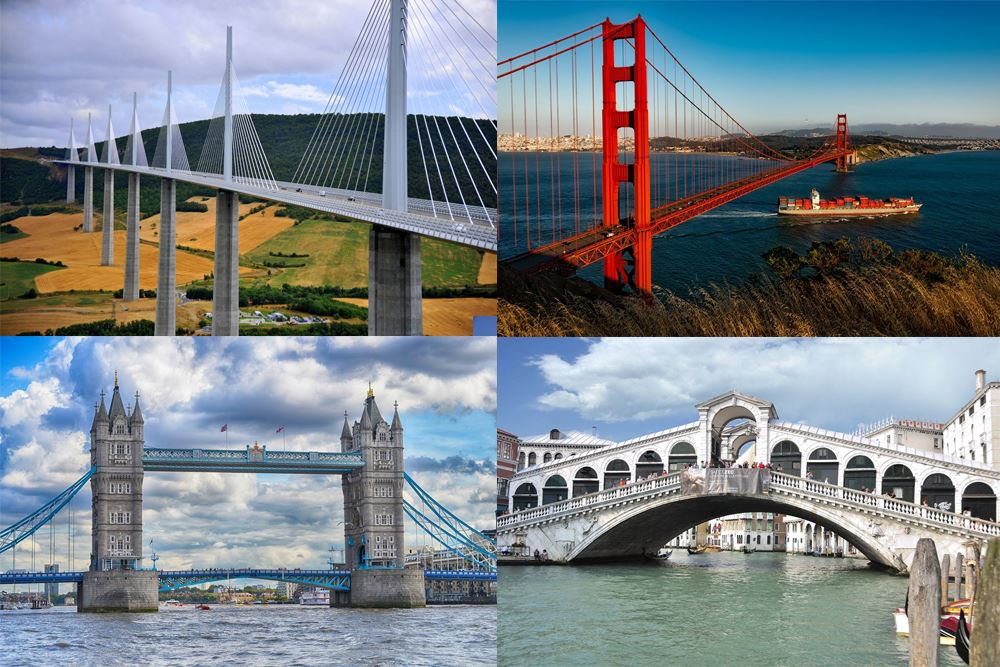 List of Most Beautiful & Famous Bridges in the World - World Famous Things